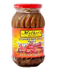 MOTHERS STUFFED RED MIRCH PICKLE 400G
