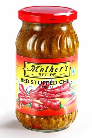 MOTHERS RED STUFFED CHILLI PICKLE 400G