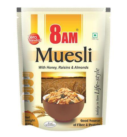 8 AM MUESLI WITH HONEY MIXED 425 GM
