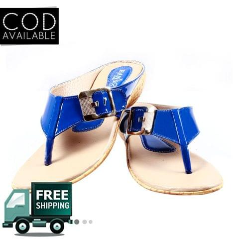 Blue Women Casual Slippers