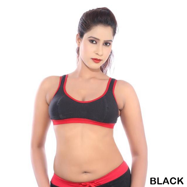 Happy Hours Cotton Spandex Women's Sports Bra