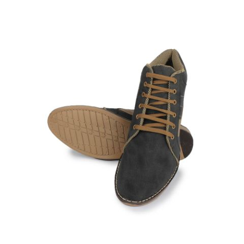 Senator Gray Colour Synthetic Leather Shoes