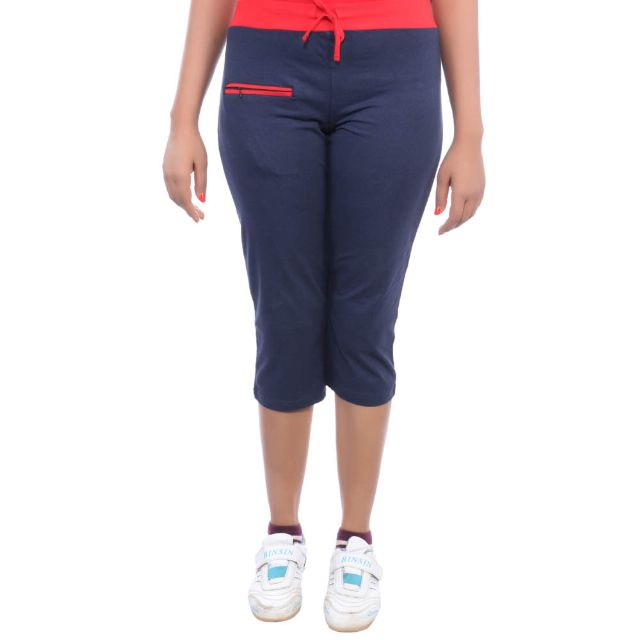 Happy Hours Cotton Spandex Women's Capri
