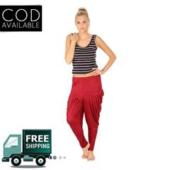 SLS Maroon Cotton Lycra Regular Fit Women's Dhoti