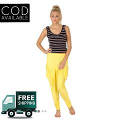SLS Yellow Cotton Lycra Regular Fit Women's Dhoti