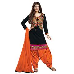 Ethnic Basket Black Party Wear Patiala Salwar Kameez