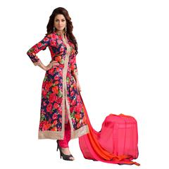 Ethnic Basket Multicolor Party Wear Anarkali Salwar Kameez