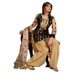 Ethnic Basket Black Designer Straight Cut Salwar Kameez