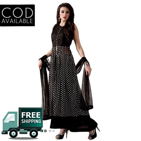 Ethnic Basket Black Party Wear Anarkali Salwar Kameez