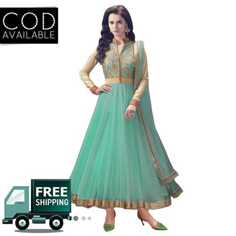 Ethnic Basket Blue Party Wear Anarkali Salwar Kameez