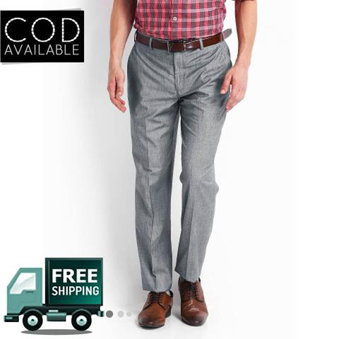Style Men's Grey Formal Trouser