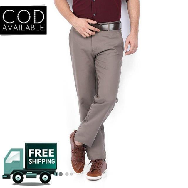 Style Men's Brown Formal Trouser