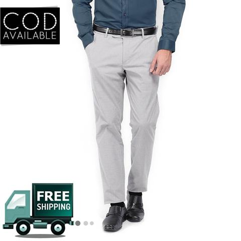 Style Men's Light Grey Formal Trouser