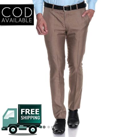 Style Men's Dark Beige Formal Trouser