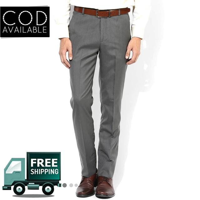 Style Grey Men's Formal Trouser
