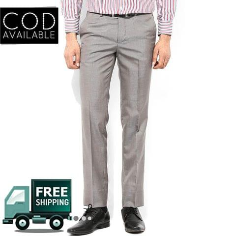 Style Light Grey Men's Formal Trouser