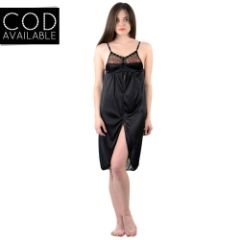 American-Elm Women's Stylish Satin Nighty