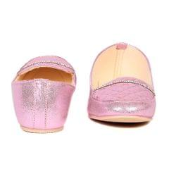 Ten Women's Pink Synthetic Leather Loafers