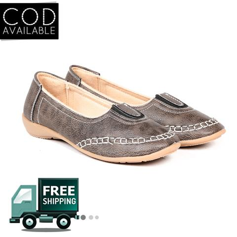 Ten Women's Grey Denim Loafers