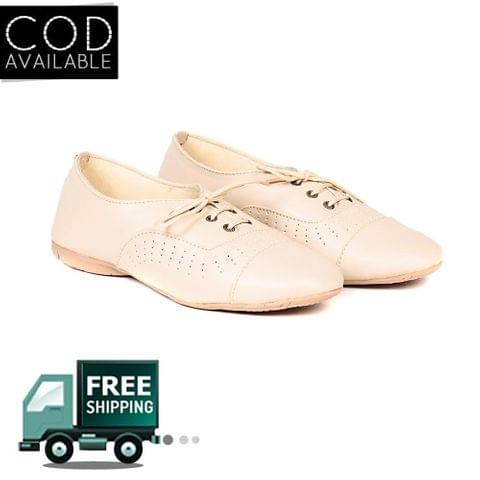 Ten Women's Cream Synthetic Leather Casual Shoes