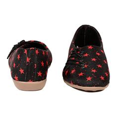 Ten Women's Black Fabric Casual Shoes