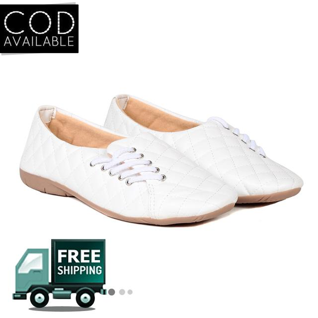 Ten Women's White Synthetic Leather Casual Shoes