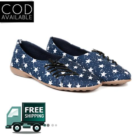 Ten Women's Blue Fabric Casual Shoes