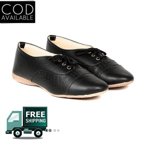 Ten Women's Black Synthetic Leather Casual Shoes