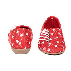 Ten Women's Red Fabric Casual Shoes