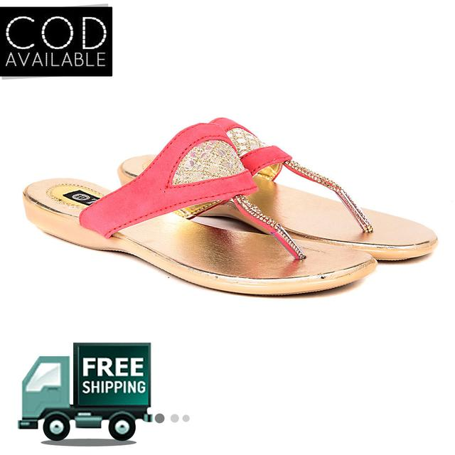 Ten Women's Pink Suede Sandals