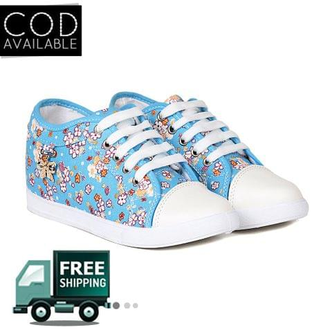 Ten Women's Blue Fabric Sneakers