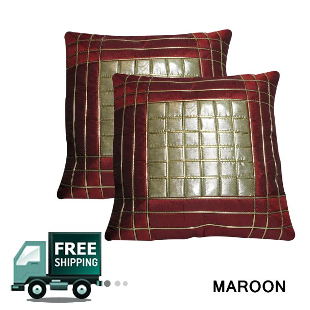 Rotomax Set of 2 Pcs Shimmer Cushion Cover of 16 x 16 Inches