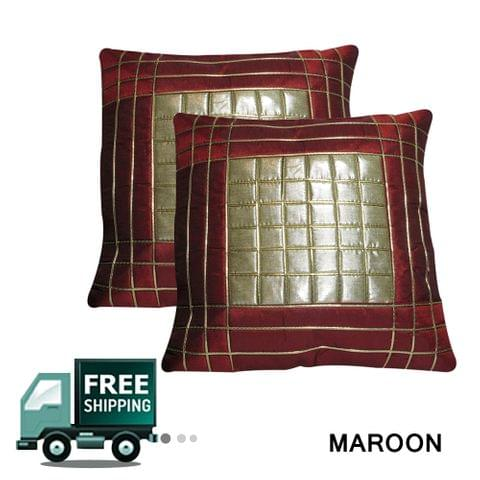 Rotomax Set of 2 Pcs Shimmer Cushion Cover of 12 x 12 Inches