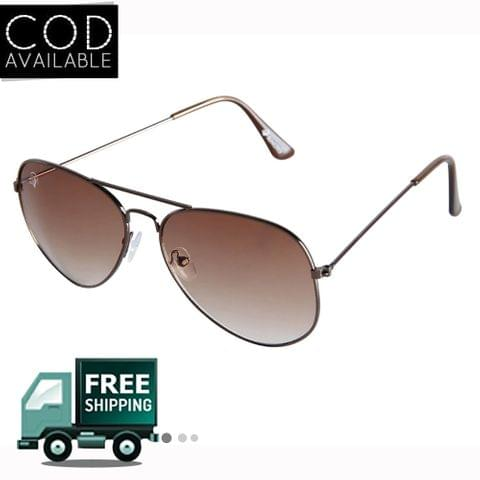 Rinoto Brown Aviator Sunglass