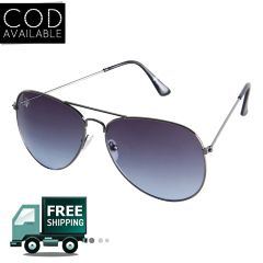 Rinoto Grey Blue Aviator Sunglass