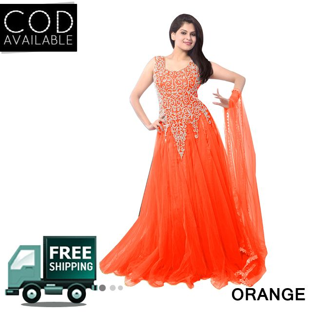 Sancom Embroidered Net Gown