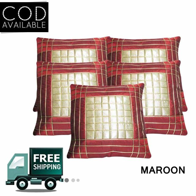 Rotomax Set of 5 Pcs Shimmer Cushion Cover of 16 x 16 Inches