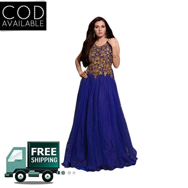Sancom Blue Color Net Gown