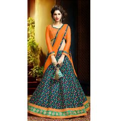 PS Enterprise Bhagalpuri Multicolor Semi Stitched Suit