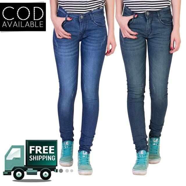 American-Elm Pack of 2 Women's Stretchable Jeans