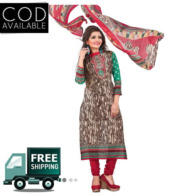 Ethnic Basket Multi Color Cotton Printed Dress Material