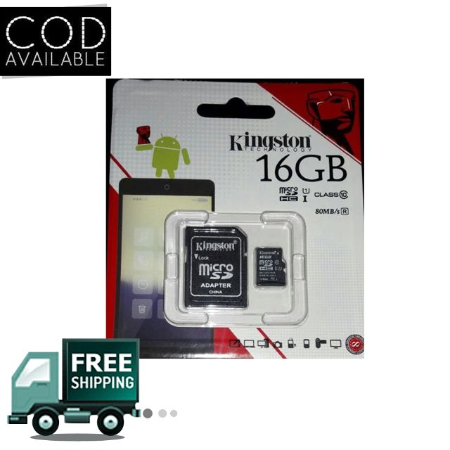 Kingston 16GB Class 10 Memory Card with Adapter(High Speed OF 80 Mb/s)