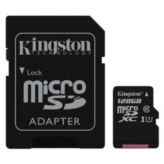 Kingston UHS-1 128 GB MicroSDXC Class 10 80 MB/s Memory Card