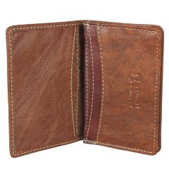 Khsa Brown Leather Card Holder