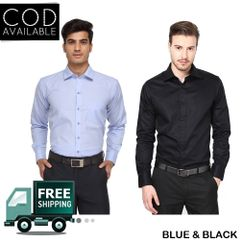 KP Men's Combo Of 2 Solid Casual Shirts