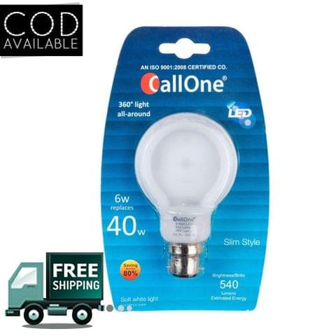 CallOne B22 LED 6 W Bulb(White)