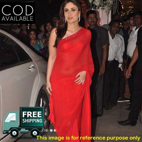 Kareena Kapoor Red Saree By Vamika
