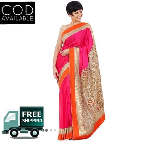 Mandira Bedi Pink Day 2 LFW Summer Resort Saree By Vamika