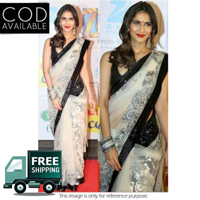 Vaani Kapoor Off White Chiffon Saree By Vamika