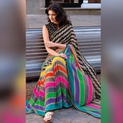Bollywood Style Multicolor Saree By Vamika